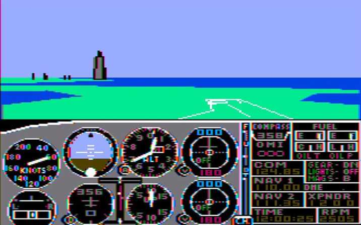 Microsoft Flight Simulator 1982 Playable version in Browser