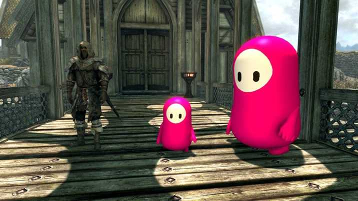 Skyrim Fall Guys Mod Released: Go Lil Jelly Beans!