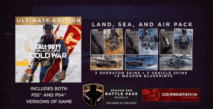 Call of Duty: Black Ops Cold War Digital Editions Shown