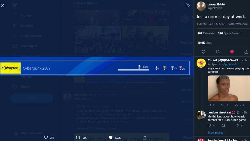 Cyberpunk 2077 %100 Trophies on PlayStation 4