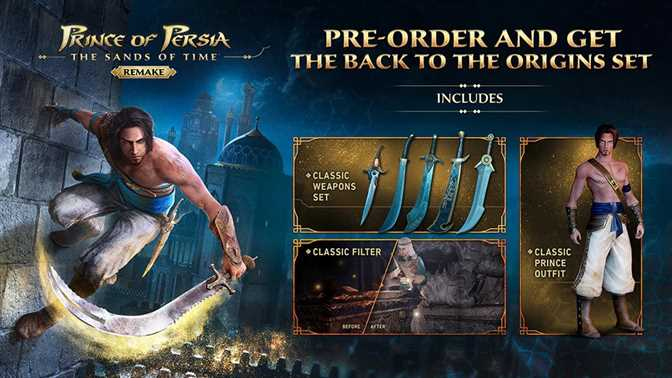 Prince of Persia Remake Pre-Order Contents Revealed