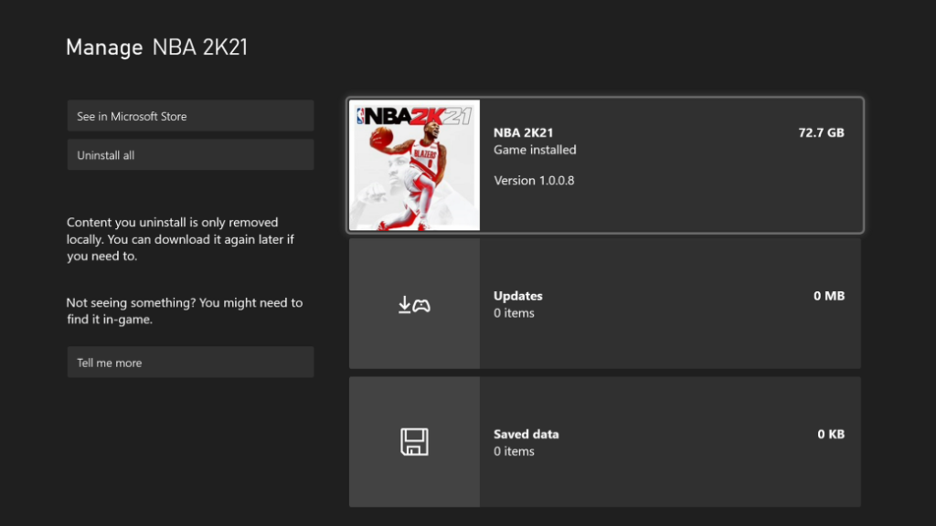 NBA 2K21 is 150 GB on PS5 and 72 GB on Xbox Series
