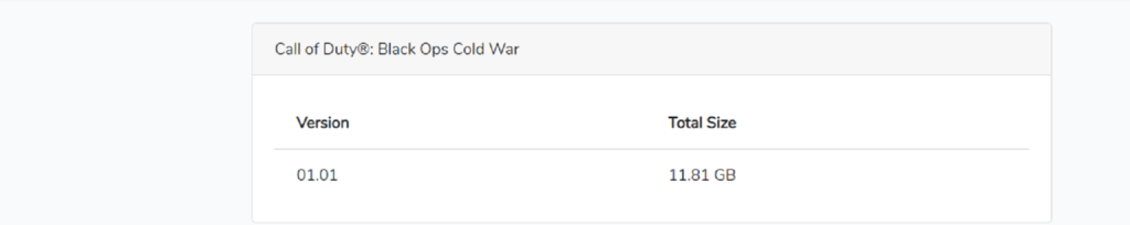 Day One Update of Black Ops Cold War is Around 12GB