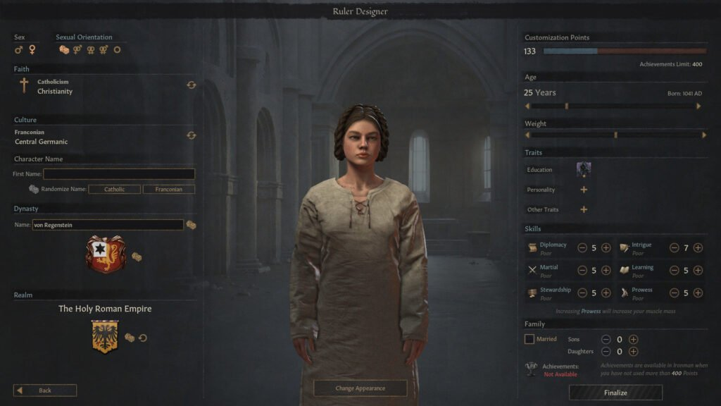 Crusader Kings III Update Ruler Designer Released