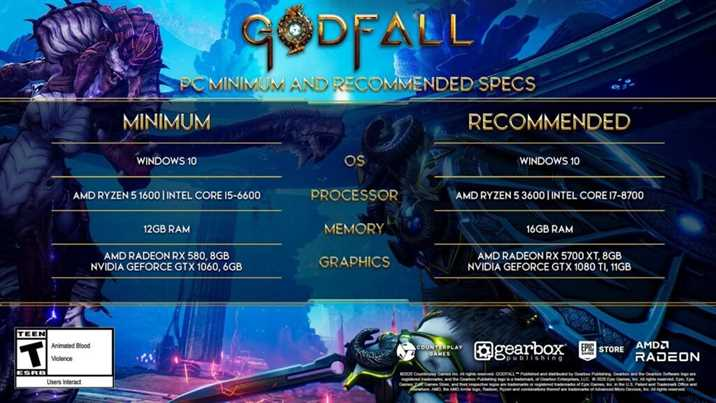 Godfall System Requirements Revealed