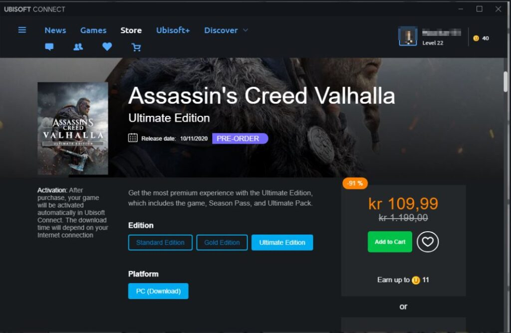 Assassin's Creed Valhalla %91 Discount in Norway