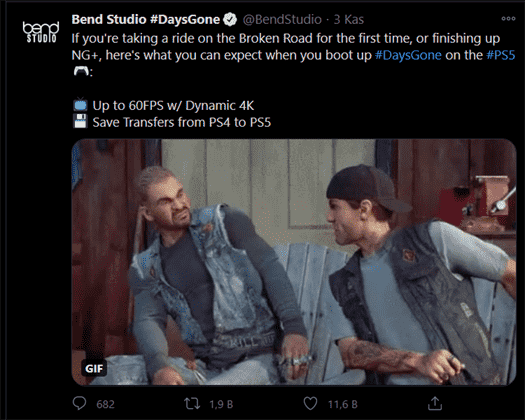 Days Gone Will Be 4K and 60FPS on PlayStation 5