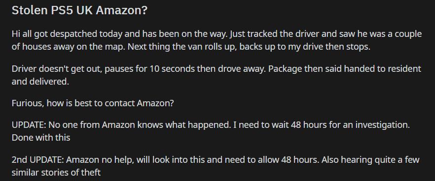Amazon UK is Sending Kitchenware Instead of PS5