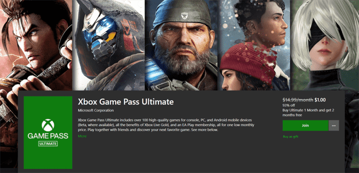 Xbox Game Pass is Just $1 for 3 Months