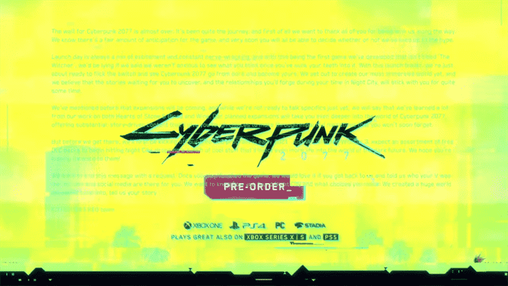 Cyberpunk 2077 Free Story Expansions Coming in Early 2021