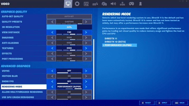 Epic Games Fortnite's New Award-Winning Event and Performance Mode