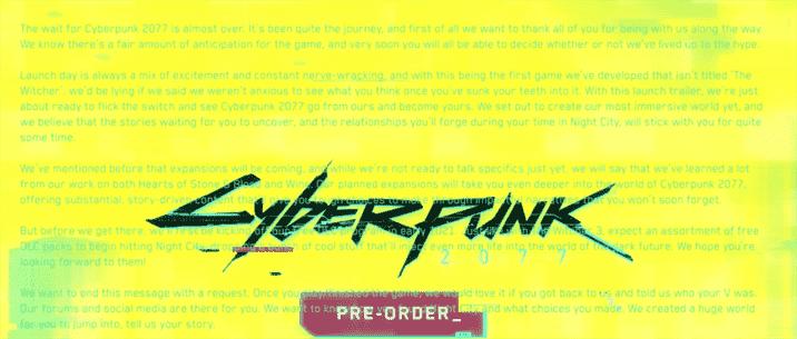 Cyberpunk 2077 trailer contains secret messages