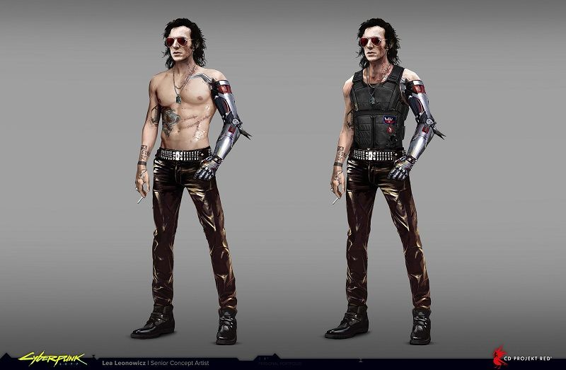Johnny Silverhand Concept Art Revealed Pre-Keanu Reeves