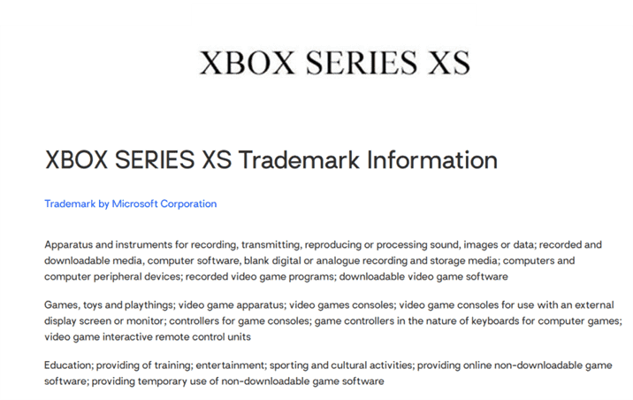 Xbox Series XS is Registered on Trademarkia