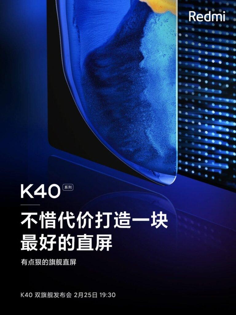 Redmi K40 Screen Details Shared By Lu Weibing