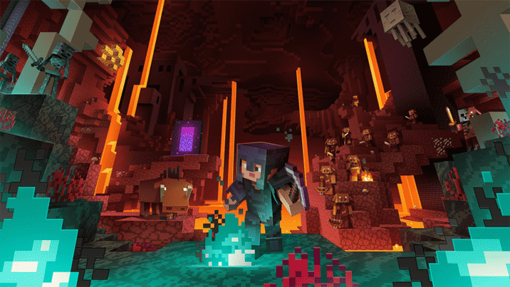 Minecraft Dungeons New DLC Flames of the Nether out Soon