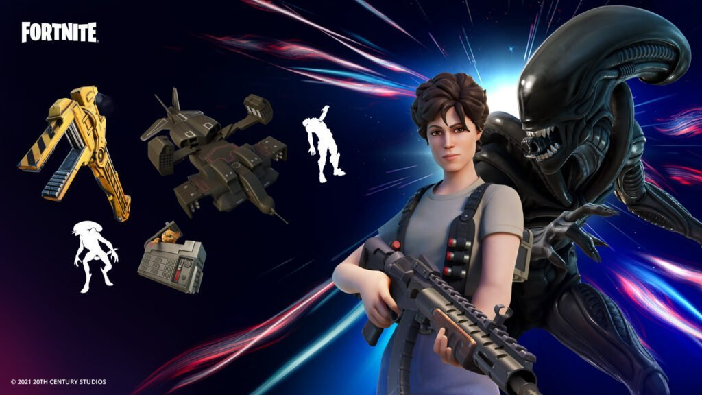 Ripley And The Xenomorph Come to the Fortnite