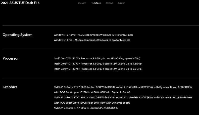RTX 3050 Ti Mobile GPU Accidentally Listed by ASUS