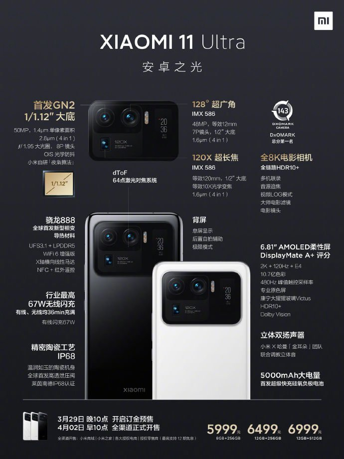 Xiaomi Mi 11 Ultra Introduced With a Launch Event