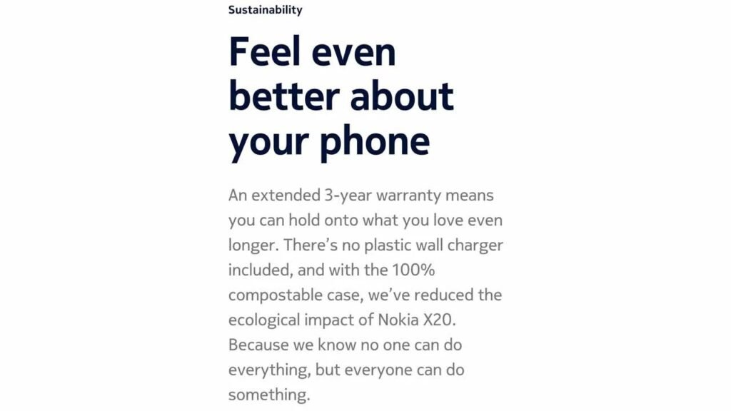 Nokia X20 Doesn't Come With A Charger In The Box