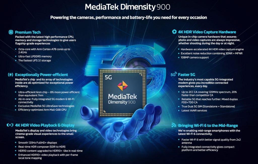MediaTek Dimensity 900 6nm SoC for Powerful Devices Announced