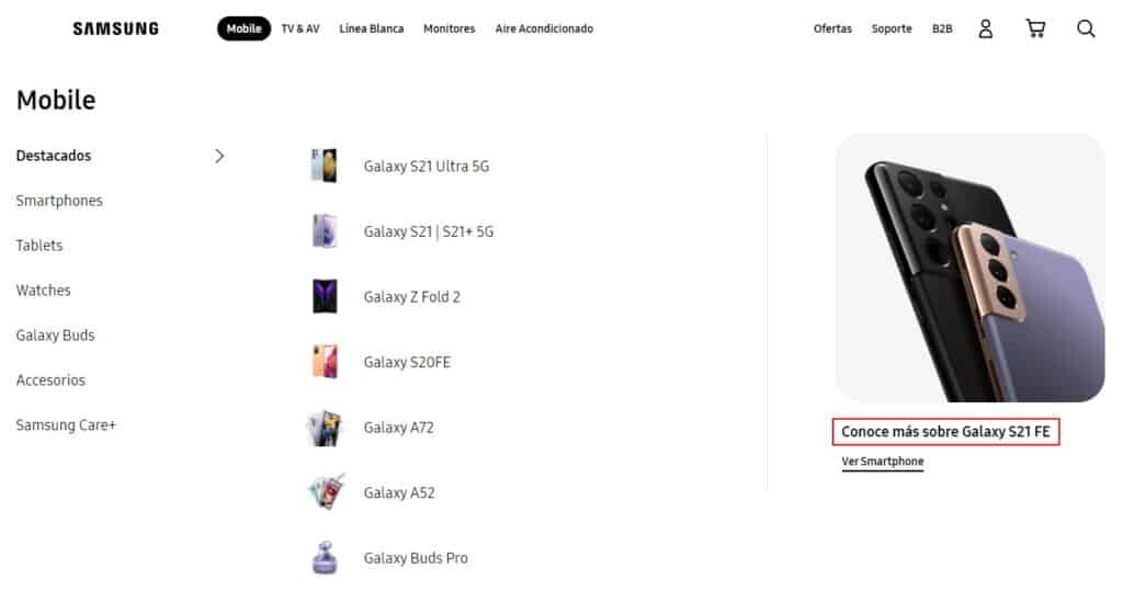 Samsung Galaxy S21 FE Mentioned On Official Website
