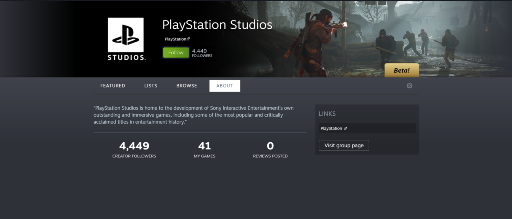 PlayStation Studios Steam Page is Now Live. Lists Games and DLC
