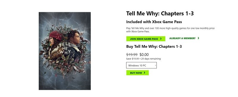 Tell Me Why is Free to get on Xbox and PC