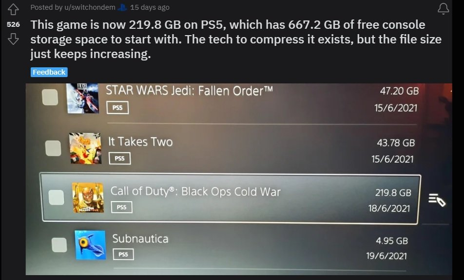 Black Ops Cold War File Size is Huge. It Will Take Away Lots of Space From Your PS5.