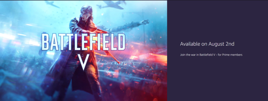 Battlefield 1 Free on Prime Gaming. Battlefield 5 May Also be Free in the Future.
